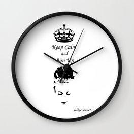 Keep Calm - Get Your Bun Up Wall Clock