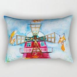 Dutch Windmills Rectangular Pillow