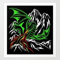 Mountain Dragon Art Print