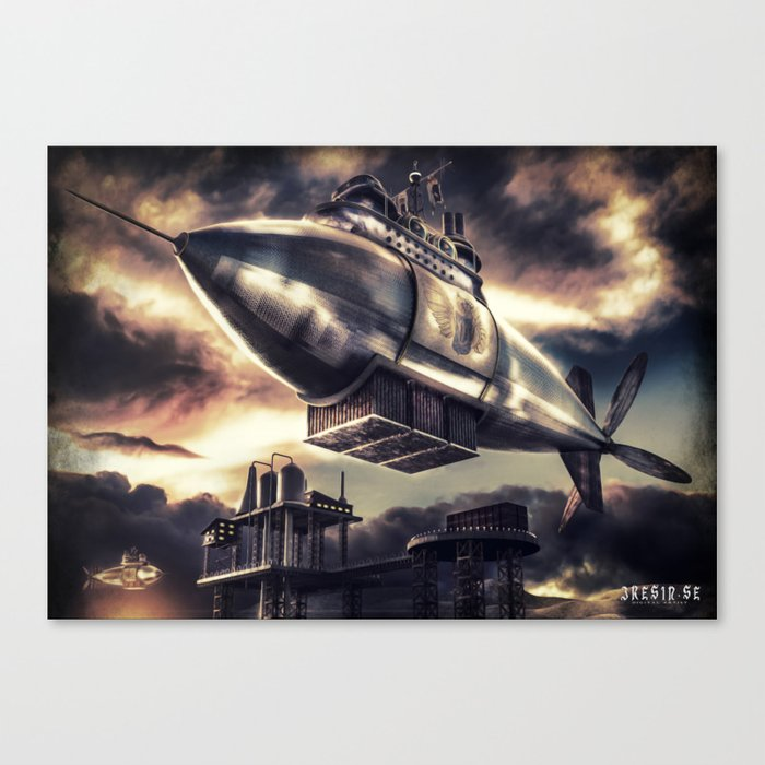 Poster - Airship Canvas Print