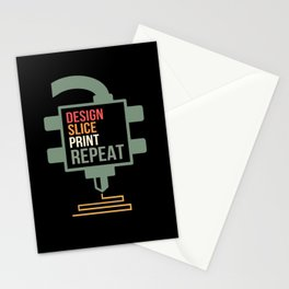 Design Slice Print Repeat 3D Printing Gift Printer Stationery Cards
