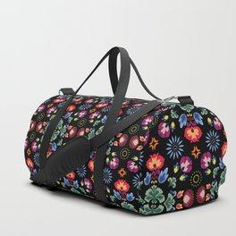 Fiesta Folk Black #society6 #folk Duffle Bag