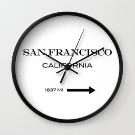 San Francisco - California  Wall Clock