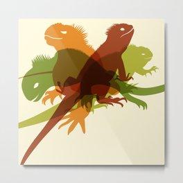 Iguanas Metal Print