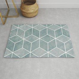 Geometric Art, Teal, Marble, Art for Walls Rug