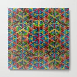 The Flower of Life (Sacred Geometry) 4 Metal Print