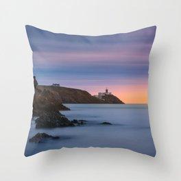 Howth lighthouse - Ireland (RR200) Throw Pillow
