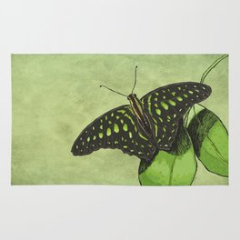Nature's Camouflage Butterfly Rug