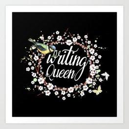 Writing Queen Art Print