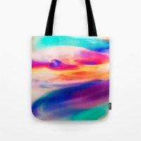 aurora Tote Bags featuring Aurora by Kimsey Price