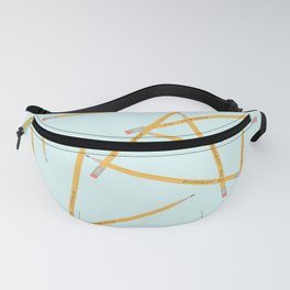 Lovely Little Pencil Pile Turquoise Teal Fanny Pack