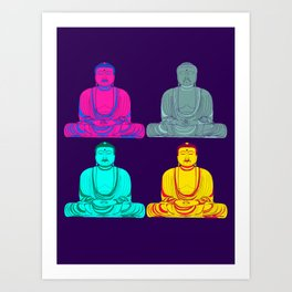 Daibutsu Buddha in Pop Art Art Print