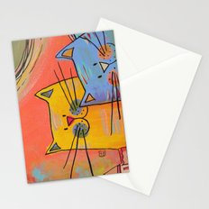 City cats Stationery Cards