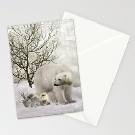 Awesome polar bear Stationery Cards