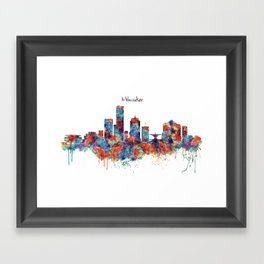 Milwaukee Skyline Framed Art Print