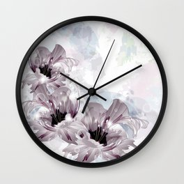 Artistic Flowers Wall Clock