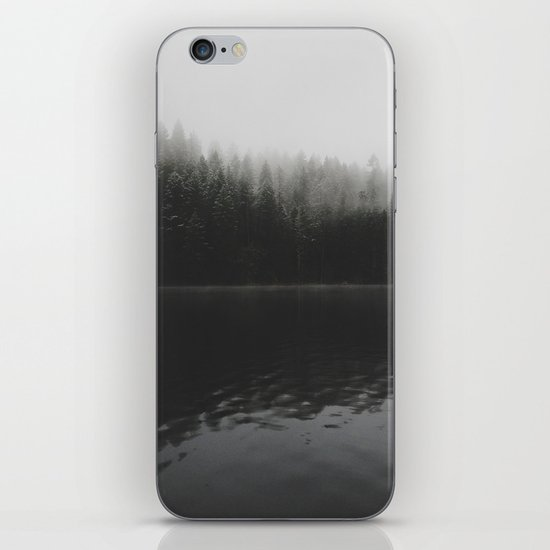Verticle Frosted Trees Lake iPhone & iPod Skin