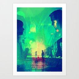 BLADE RUNNER Painting Poster | PRINTS | Blade Runner 2049 #M1 Art Print