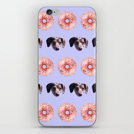 Doxies and Donuts in Light Purple iPhone Skin