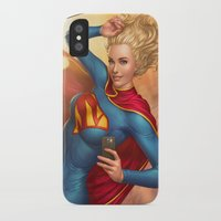 supergirl iPhone & iPod Cases featuring Supergirl by kody
