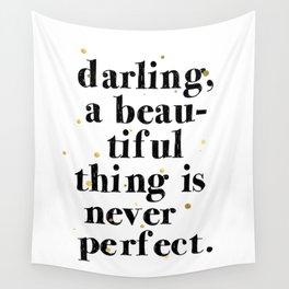 Darling / Poster, scandinavian, art print, drawings, paintings, pattern, illustration, marble, gold Wall Tapestry