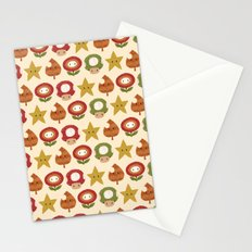 mario items pattern Stationery Cards