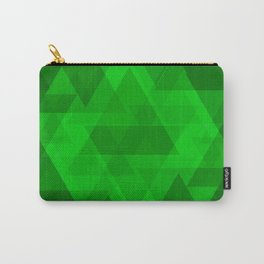 Bright green large triangles in the intersection and overlay. Carry-All Pouch