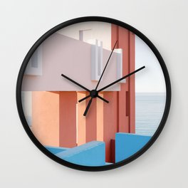 Pastel Maze at Muralla Roja | Andalusia travel photography | Spain fine art Wall Clock