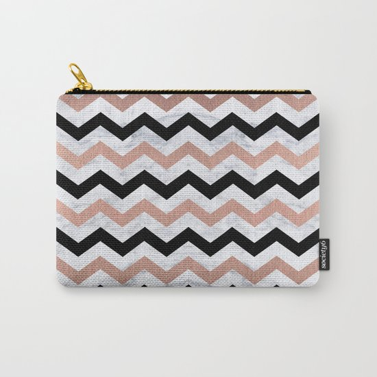 Luxury Trendy Chevron Carry-All Pouch