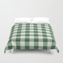 Hunter Green Buffalo Check Duvet Cover