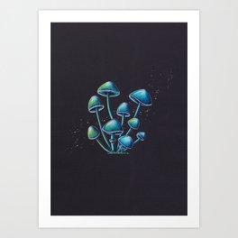 Mystic Magic Mushrooms Art Print