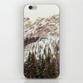Panorama in Alta Badia, Alto Adige, Italian Alps iPhone Skin