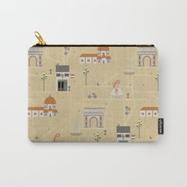Florence Map Print Illustration Carry-All Pouch