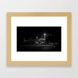 Island Bay at night Framed Art Print