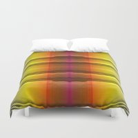 quilt Duvet Covers featuring Quilt Pattern  by Zenya Zenyaris