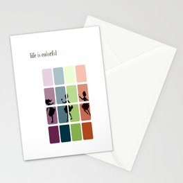 Life is colorful Stationery Cards