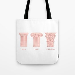 Columns - Rose Tote Bag