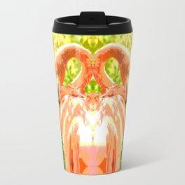 Flamingo illustration versus illustrated flamingo Travel Mug