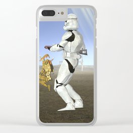 War Stars: Where is no need in Cavalry? Clear iPhone Case