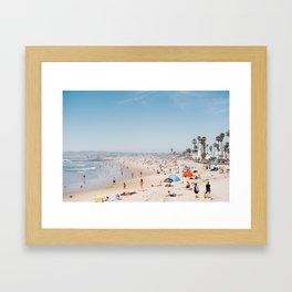 San Diego Beach Framed Art Print