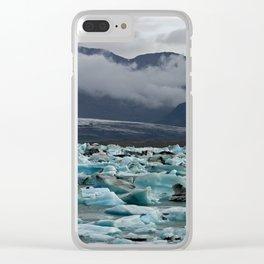 Floating icebergs in lake Jokulsarlon Clear iPhone Case
