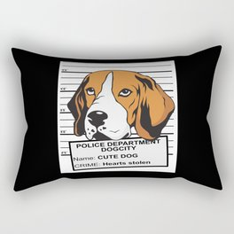 Sweet Beagle Mugshot Rectangular Pillow
