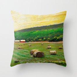 Sun Field Throw Pillow
