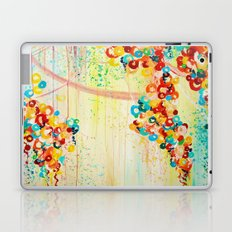 SUMMER IN BLOOM - Beautiful Abstract Acrylic Painting Vibrant Rainbow Floral Nature Theme  Laptop & iPad Skin