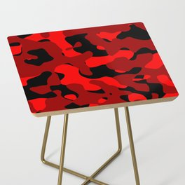 Black and Red Camo abstract Side Table