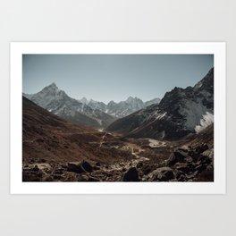 Khumbu valley Art Print