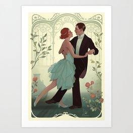 Art nouveau dance Art Print