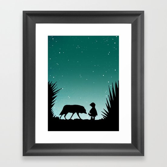"""""""Secret Encounters"""" (Dedicated to the Ricci/Forte Theatre Company for their """"Grimmless"""" Show) Framed Art Print"""