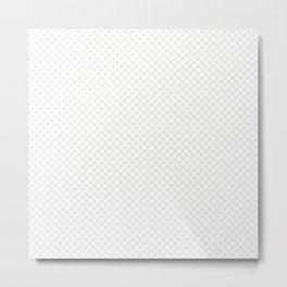 Star White Polka Dots Metal Print