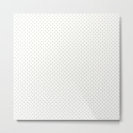 Star White Polka Dots Metal Print